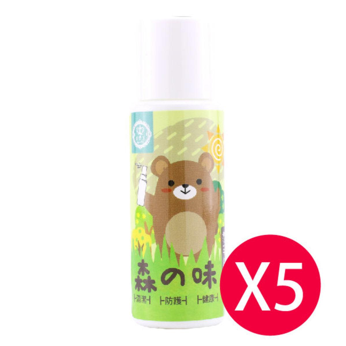5X 森之味(60ml)消毒酒精殺菌搓手液(5支)