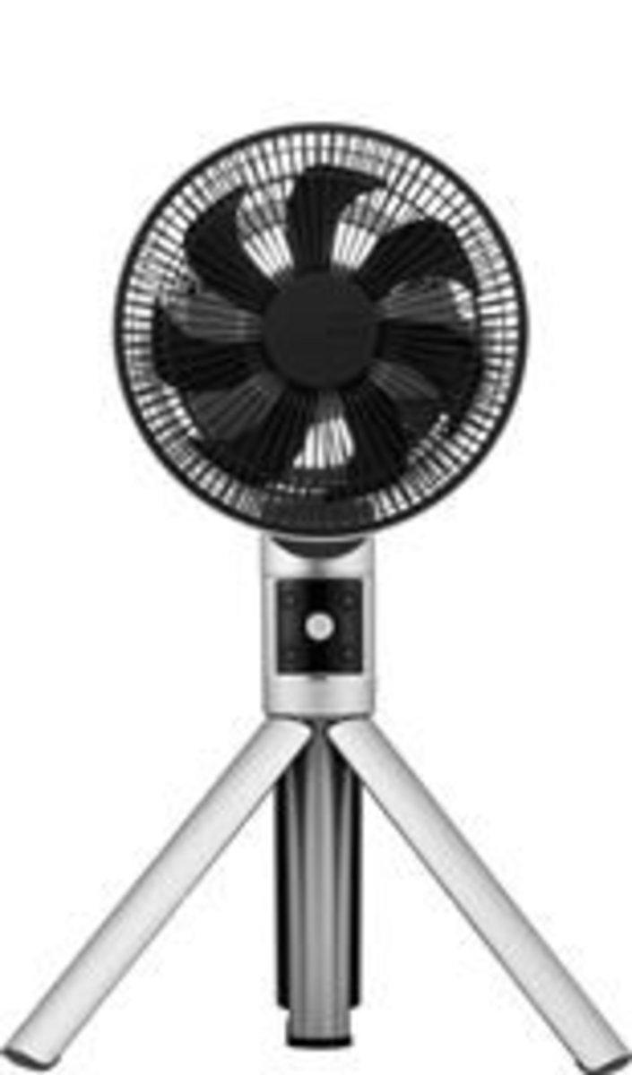 """FKLT-201DHK/S Compact tripods DC Fan (8"""" / 20cm) Silver"""