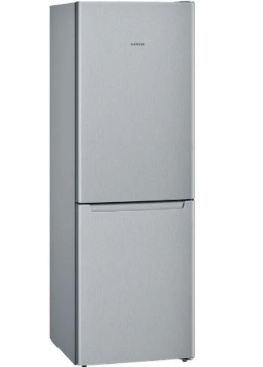iQ100 noFrost, Refrigerator, bottom freezer Inox-look door KG33NNL30K