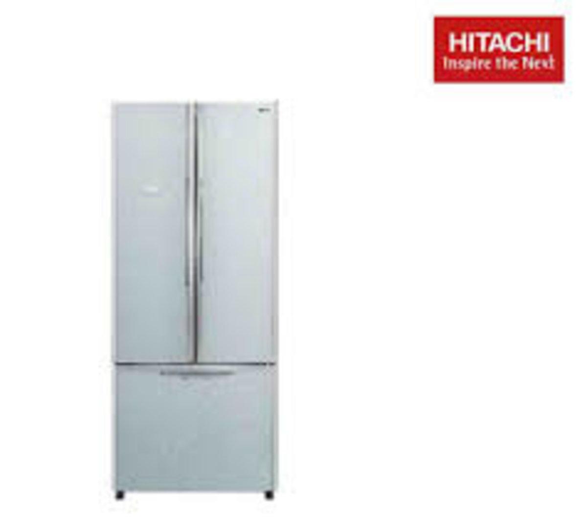 French Bottom Freezer Refrigerator 430L (Glass Silver) R-WB550P2HGS