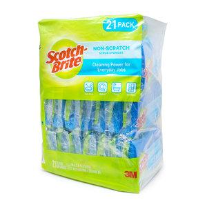 Scotch-Brite 思高 防刮海綿百潔布 21件裝 藍色 *新舊包裝隨機發貨* (076308913441)