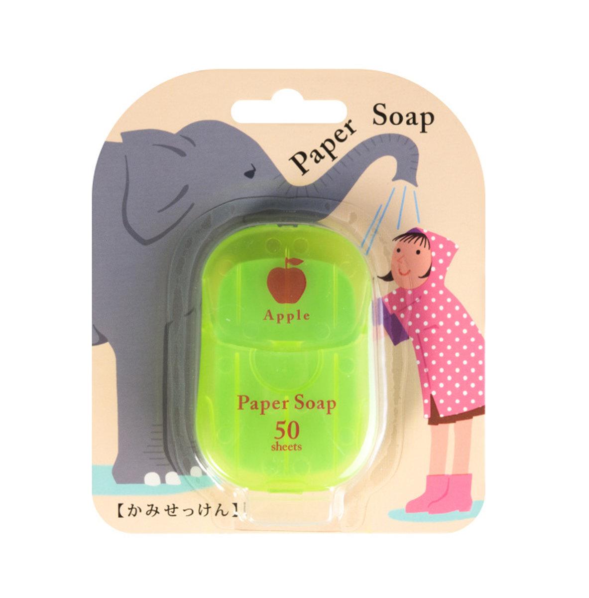 Paper Soap 肥皂紙香皂 (1盒50張) 蘋果味 (4975541027716)