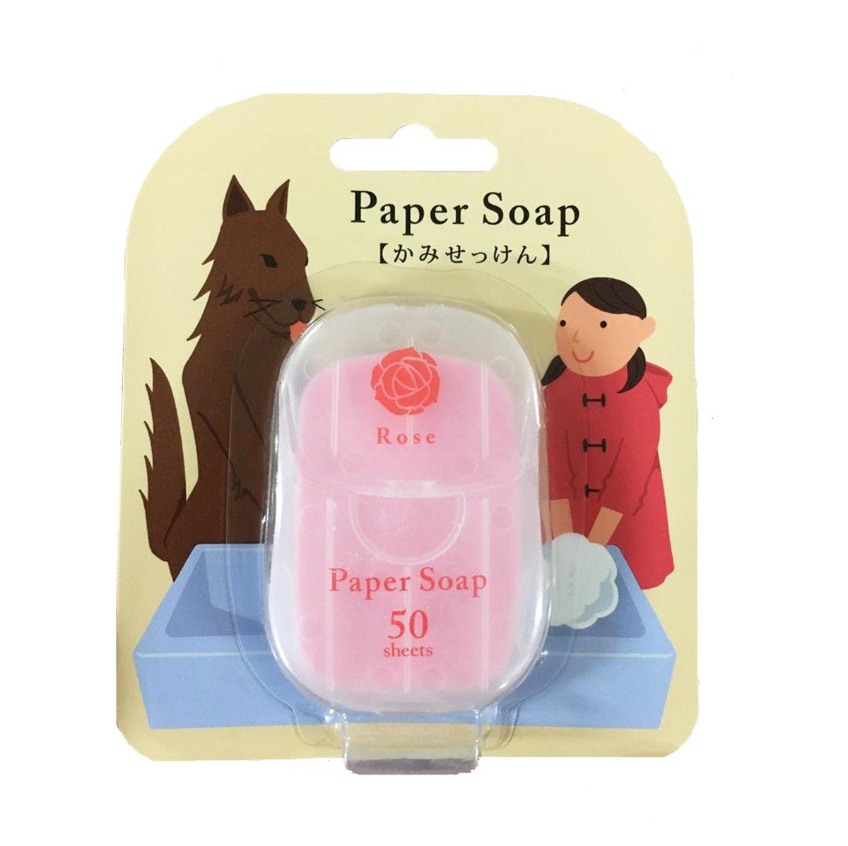 Paper Soap 肥皂紙香皂 (1盒50張) 玫瑰味 (4975541027747)