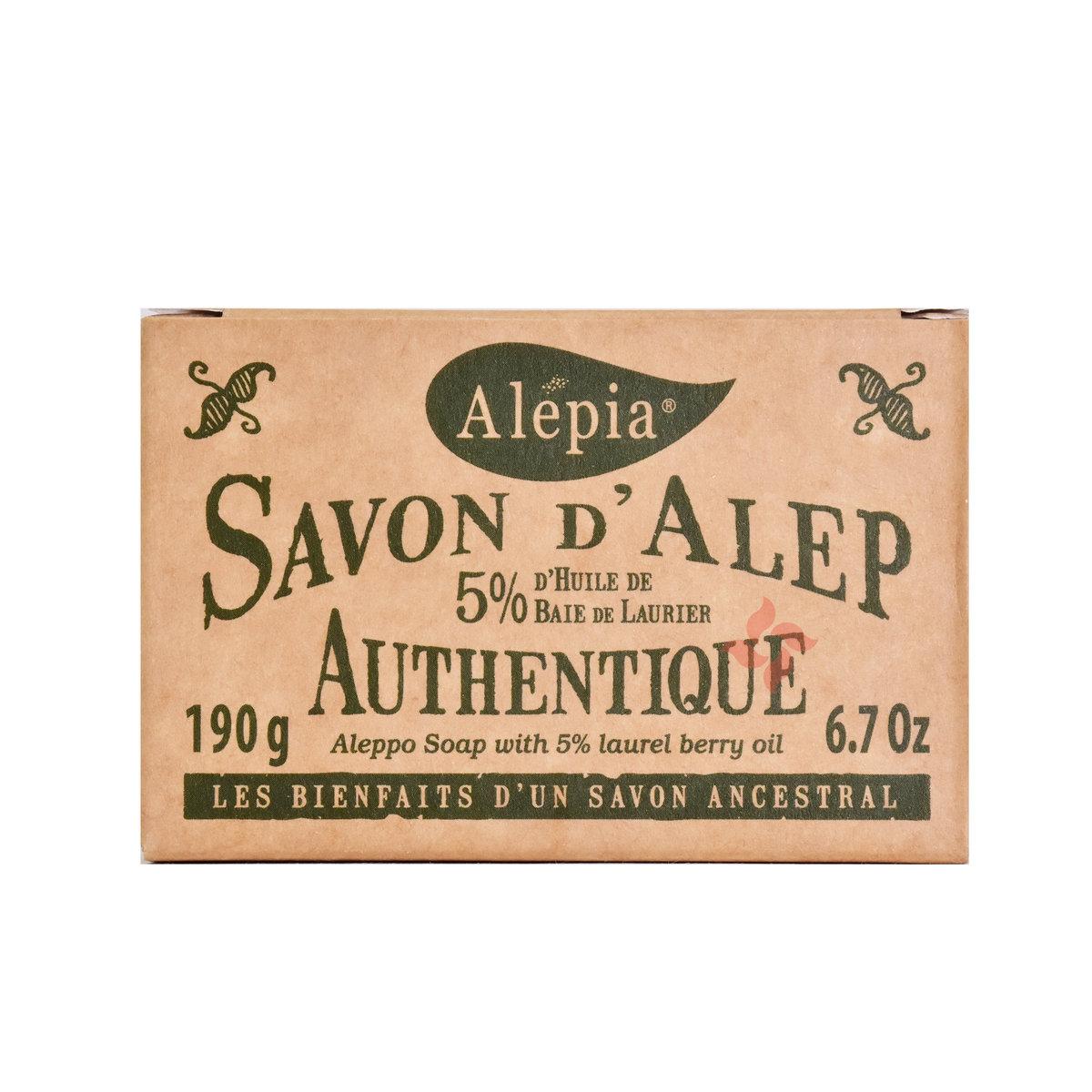 Savon d'Alep 5% Laurier 190g (3700479107244)