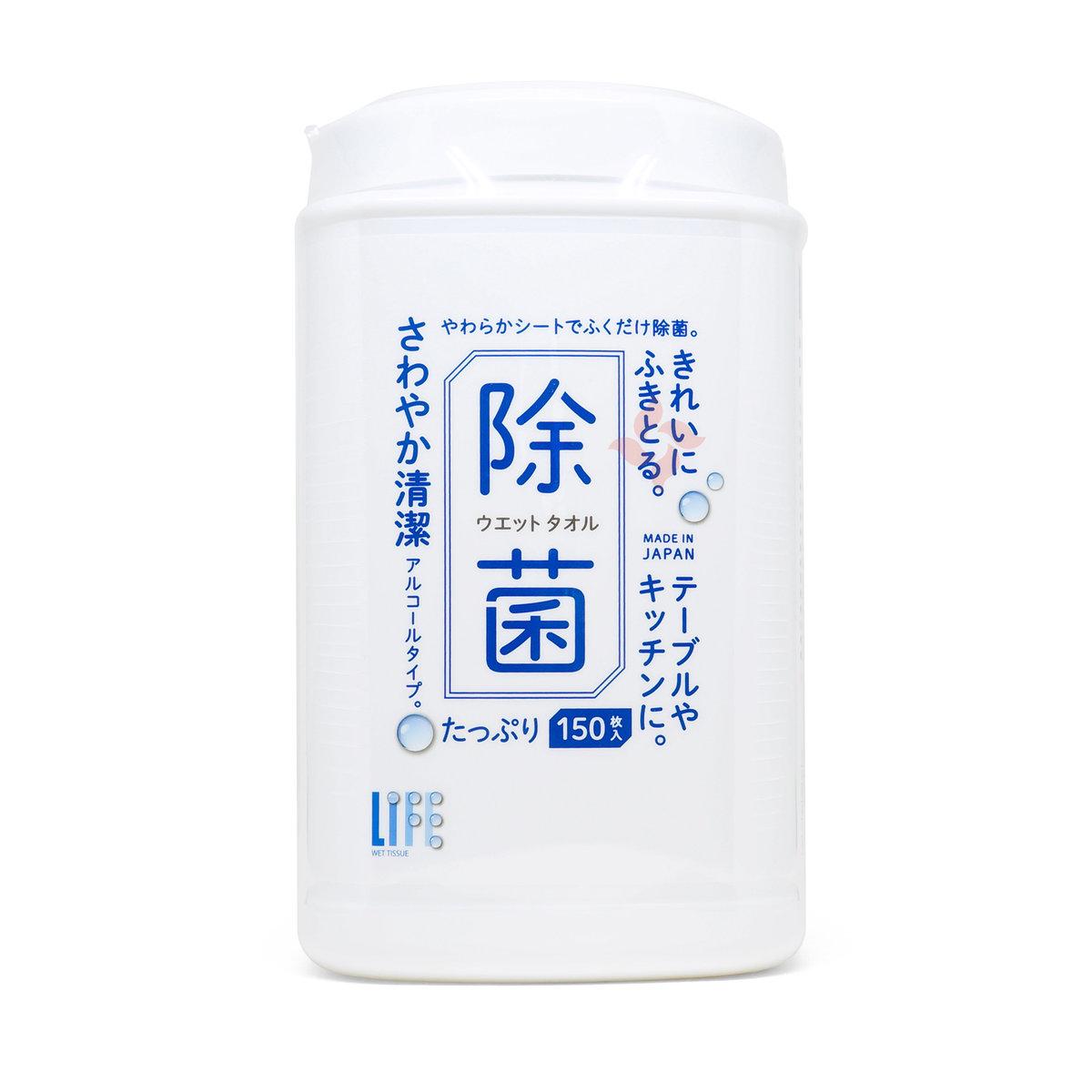 平和 清爽潔淨除菌濕巾 150枚 桶裝 (4976558006183)