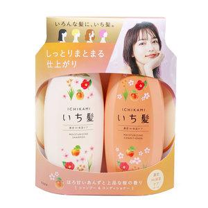 肌美精 KRACIE ICHIKAMI 濃密保濕 洗護套裝 480ml+ 480g (淺橙 + 深橙) - 日版新版 (4901417786647)