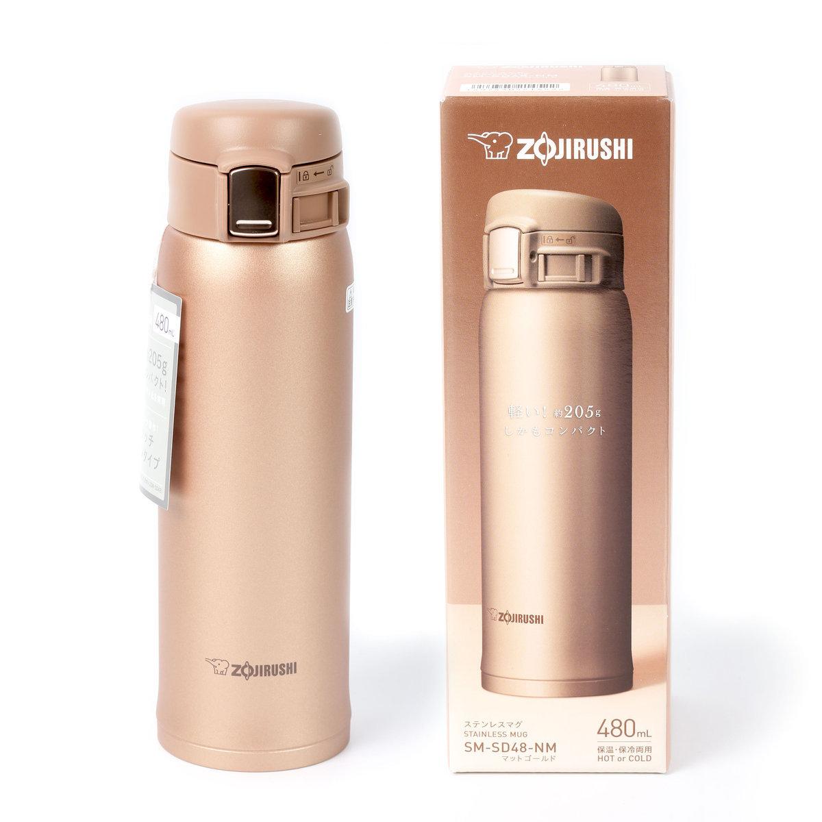 超輕量真空保溫瓶 SM-SD48--NM  (480ML)---香檳金色