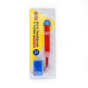 OXFORD 兒童牙刷 (紅色) + 吸盤式牙刷架 (藍色) 套裝  (8809458200381R)