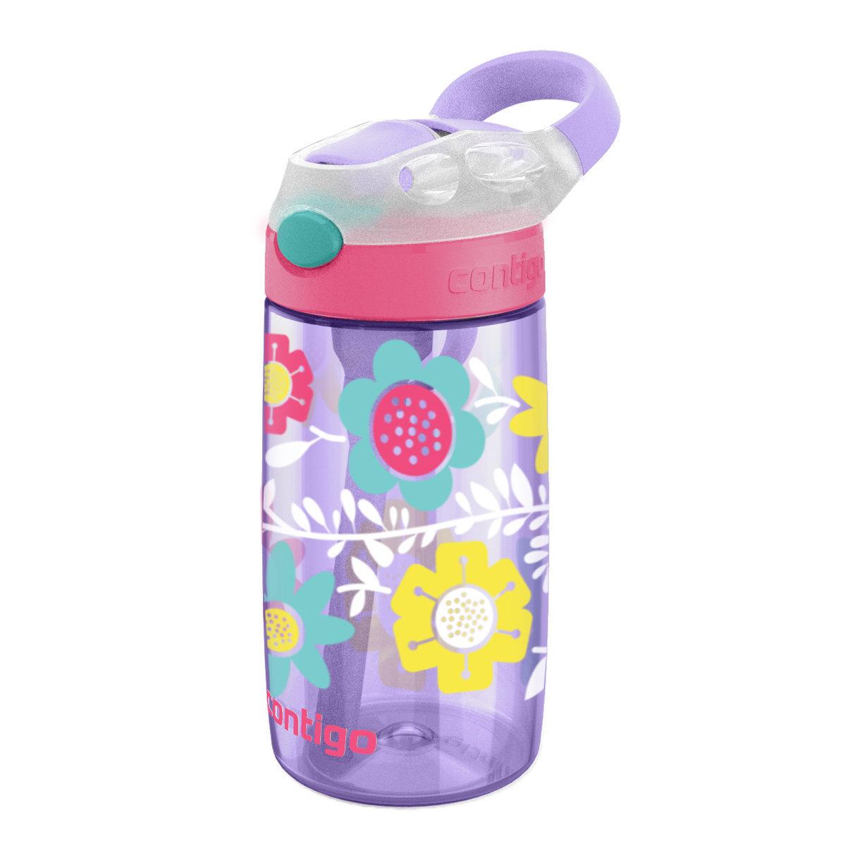 兒童防漏水樽 414ml - 紫藤花