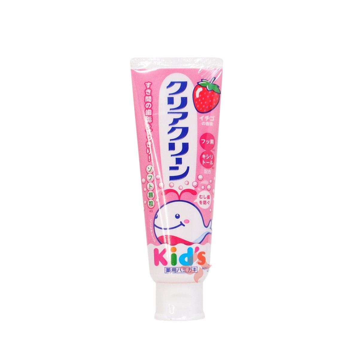花王兒童防蛀牙防可吞咽牙膏 70g 草莓味 (4901301281623)