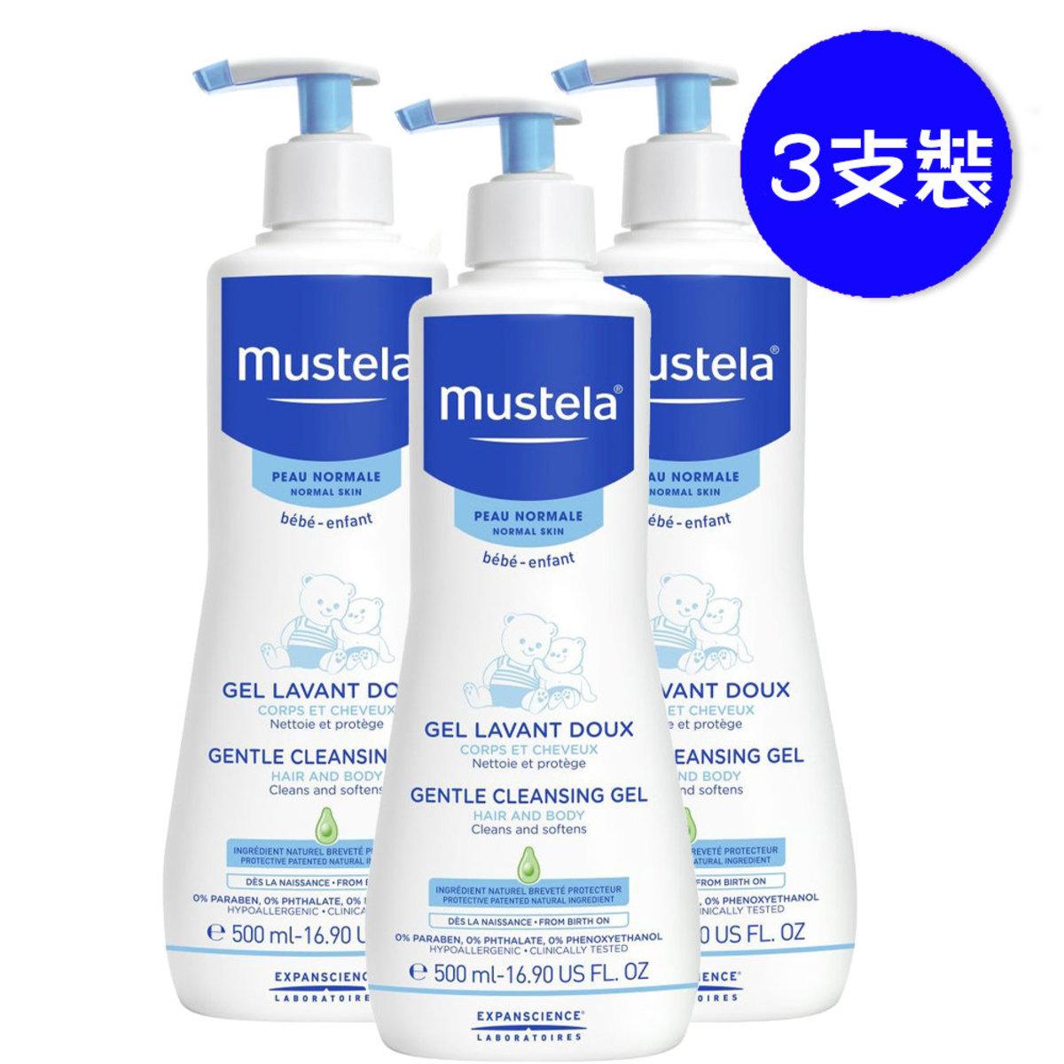 髮膚沐浴啫喱 500ml (不含皂性) 法國版 x3