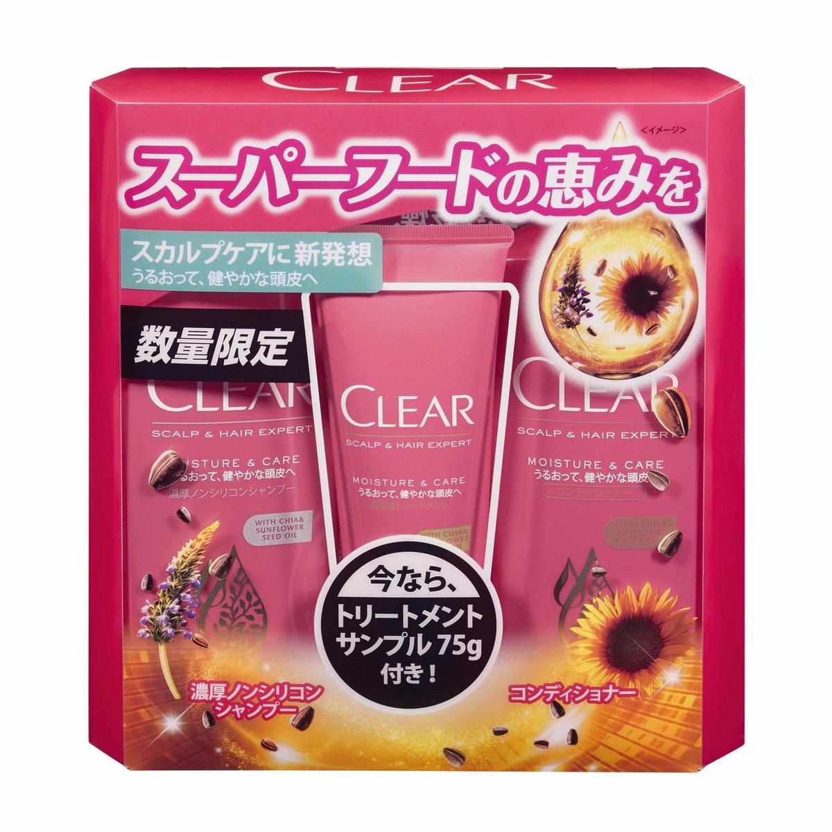 滋潤保濕洗護髮套裝 (洗髮水 370g + 護髮素 370g + 滋潤保濕護髮素 75g)