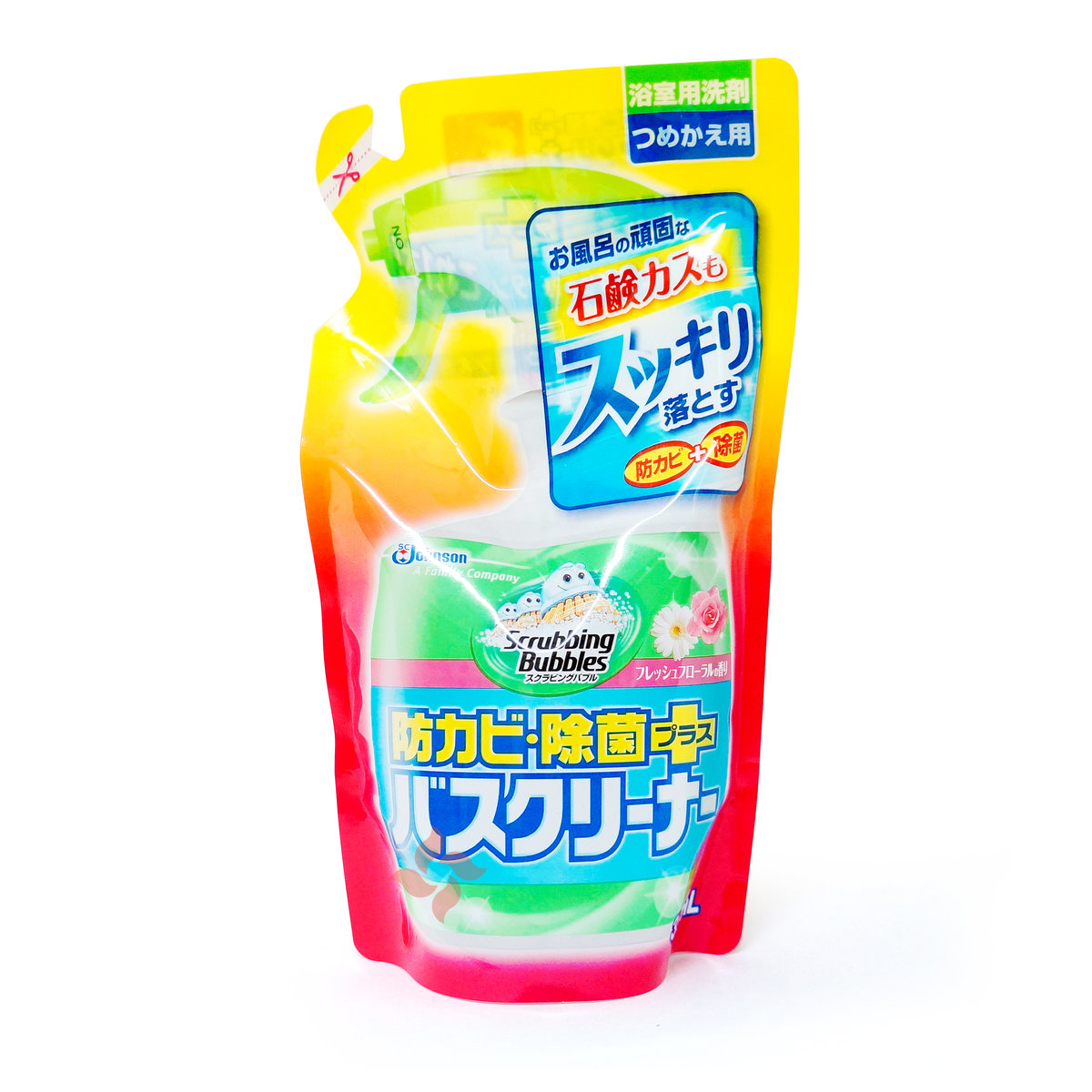 Scrubbing bubble Antifungal and disinfectant Cleaner Fruit Scent Refill 350ml(4901609008755)