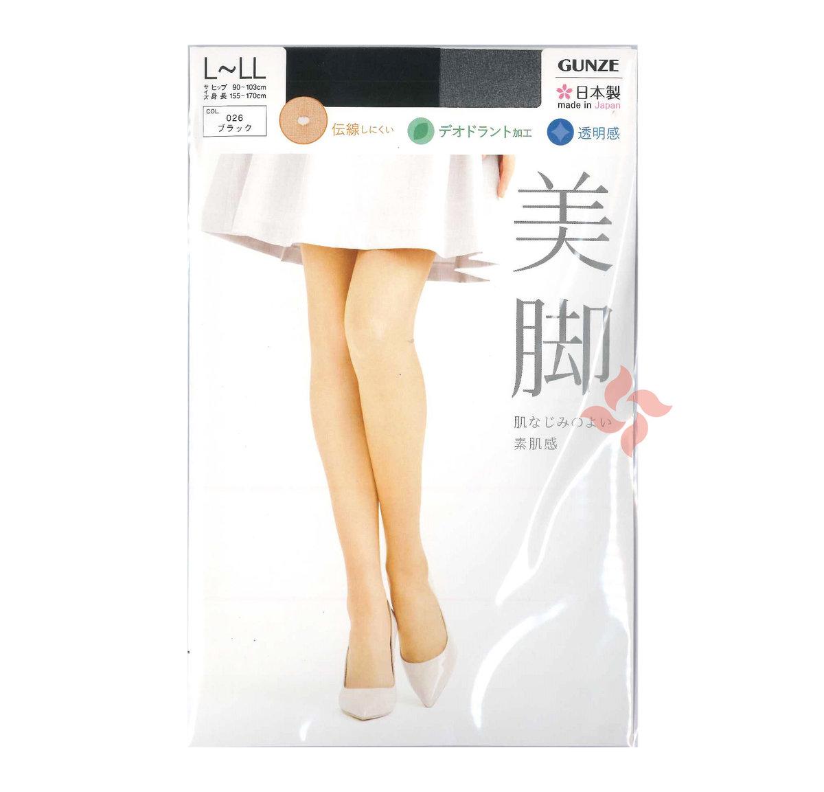 透明素肌感防鈎絲防靜電除臭加工絲襪 (黑色 026) Size: L-LL (4548366399759)