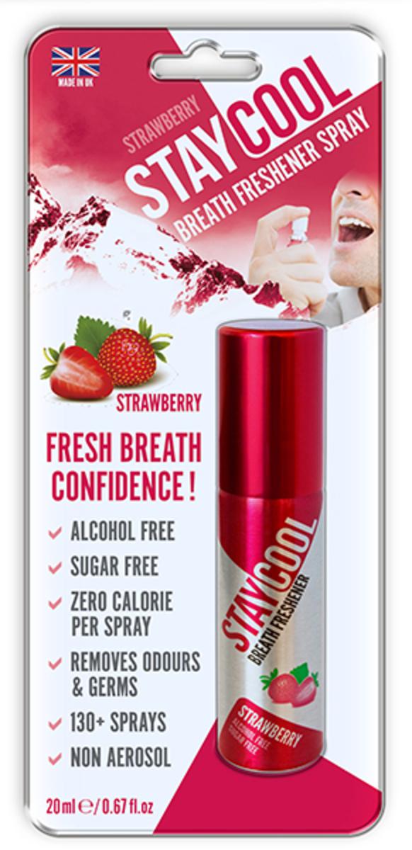 Breath Freshener-Cool (Strawberry) Blister  20ml