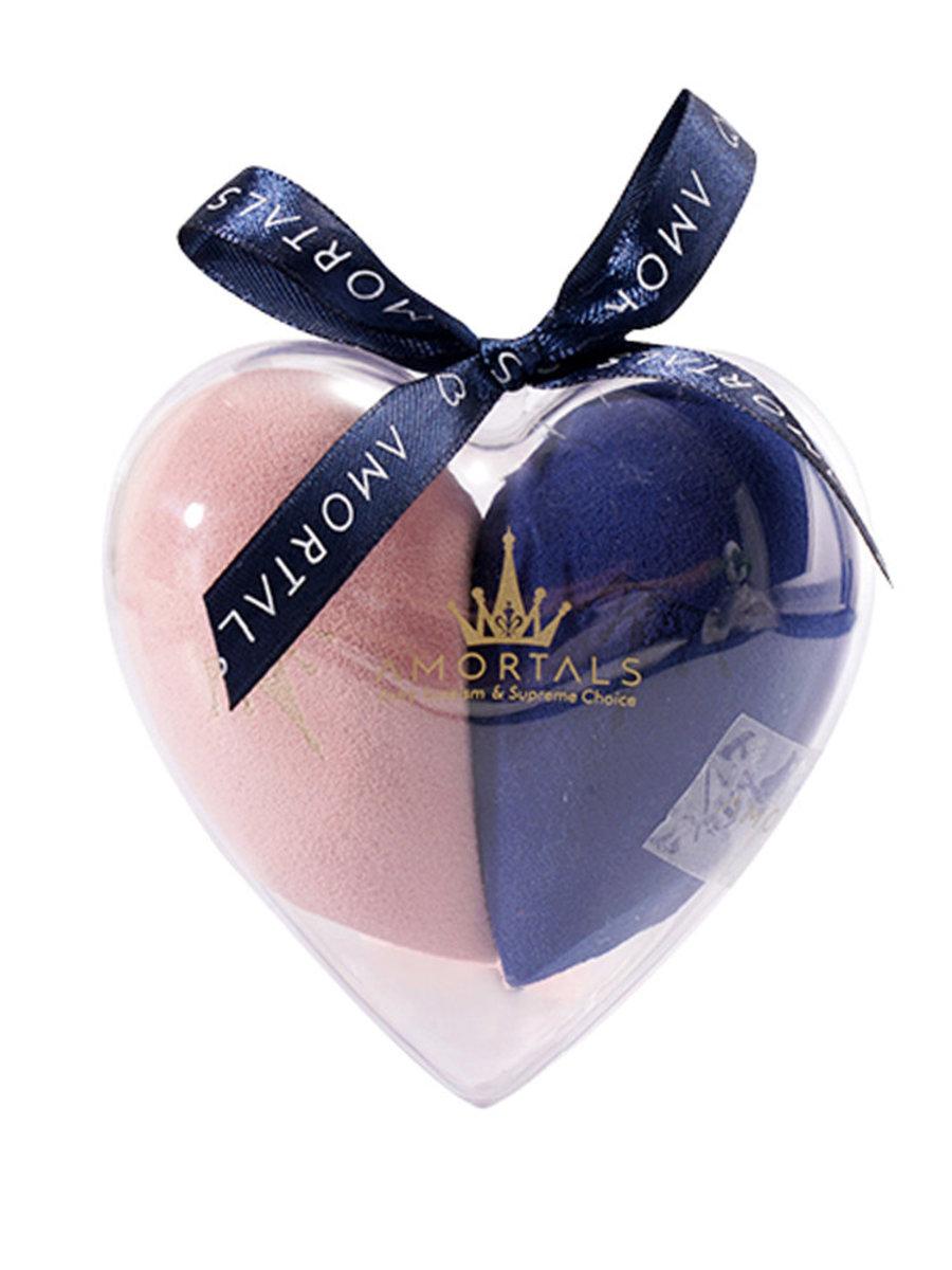Beauty Blender Set - Heart Shape BB Sponge (2pcs/Blue & Pink) (880959511037)