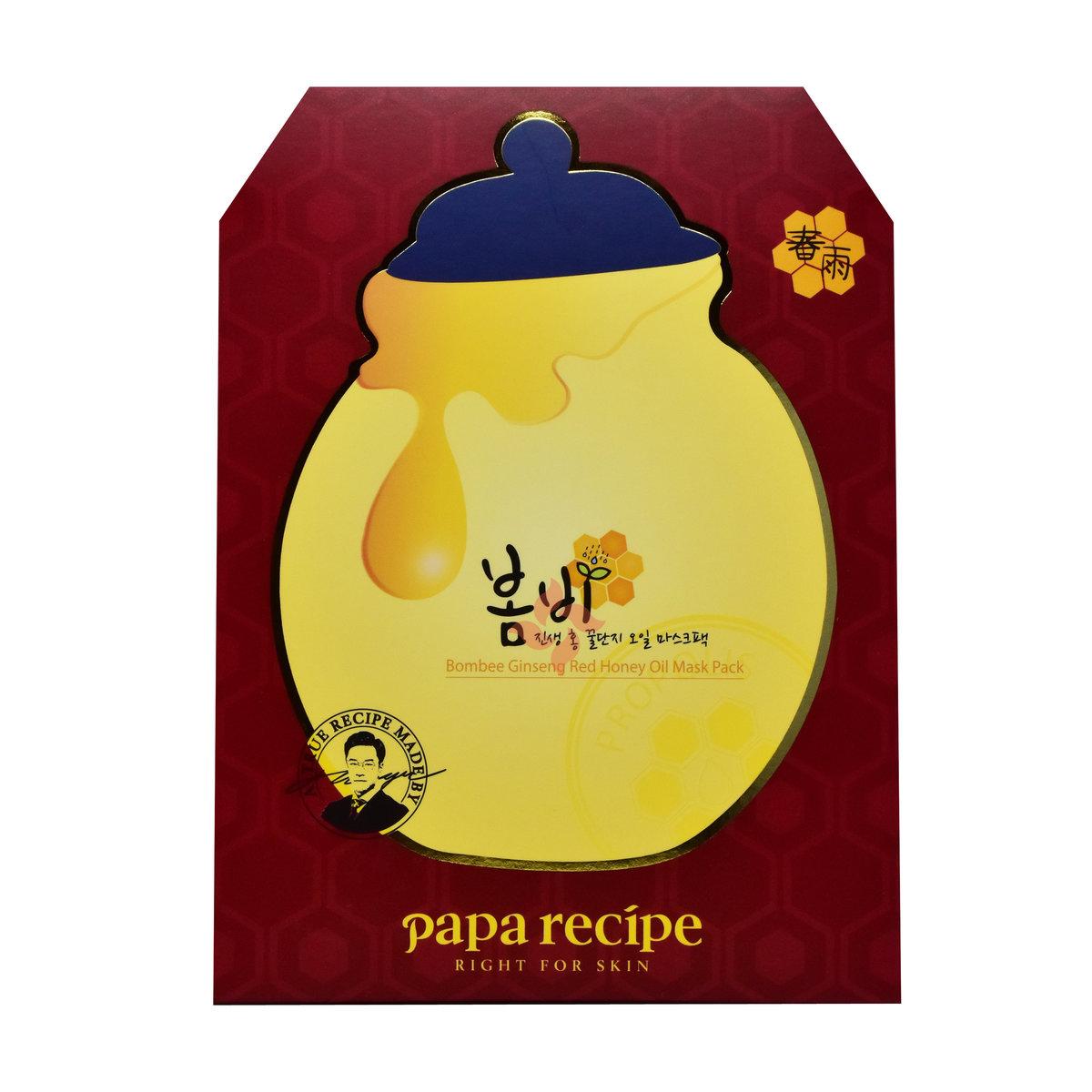 紅蔘蜂蜜精油面膜 (1盒10片) 紅盒 (8809378322330)