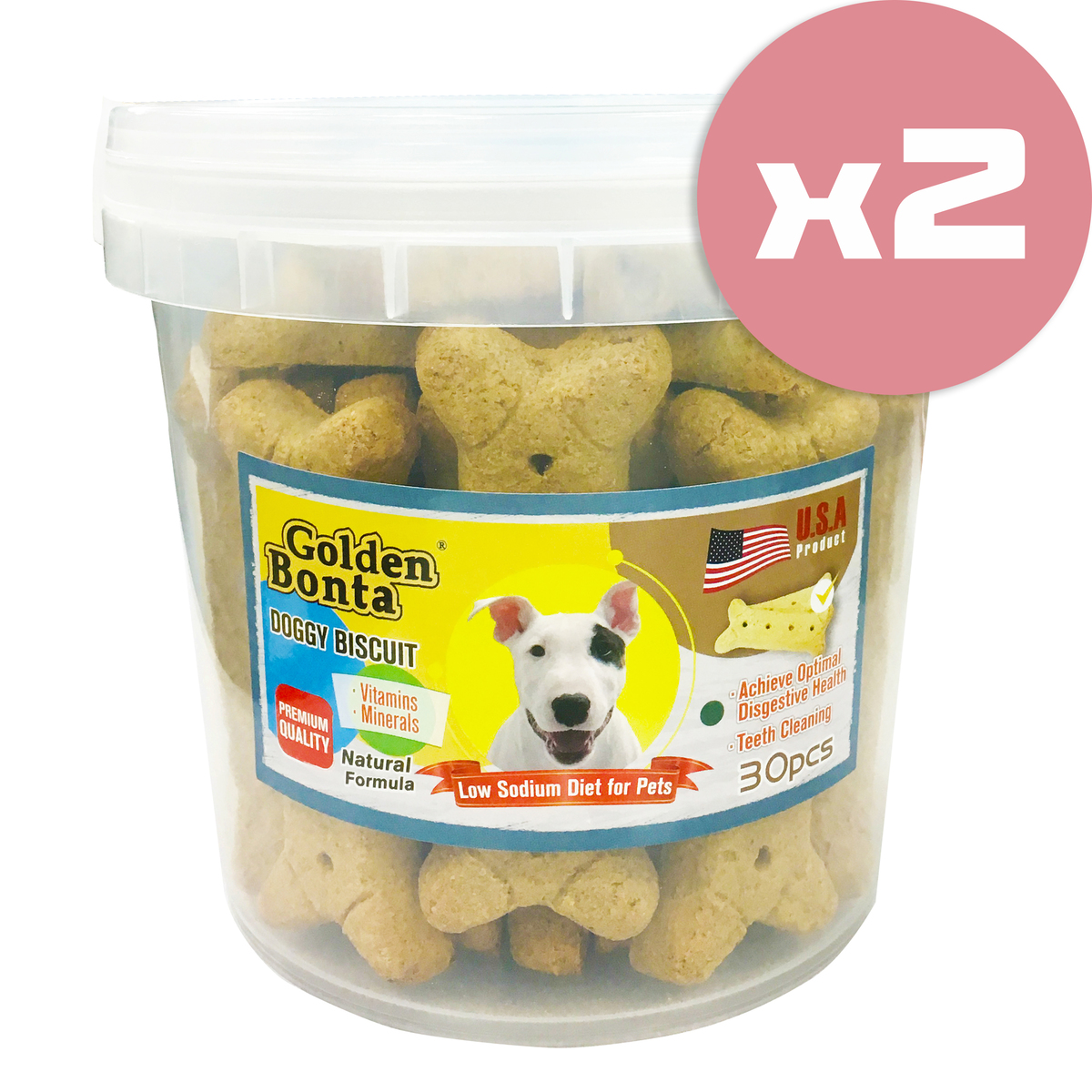 Dog Biscuits x 2 (GB-30K_2)