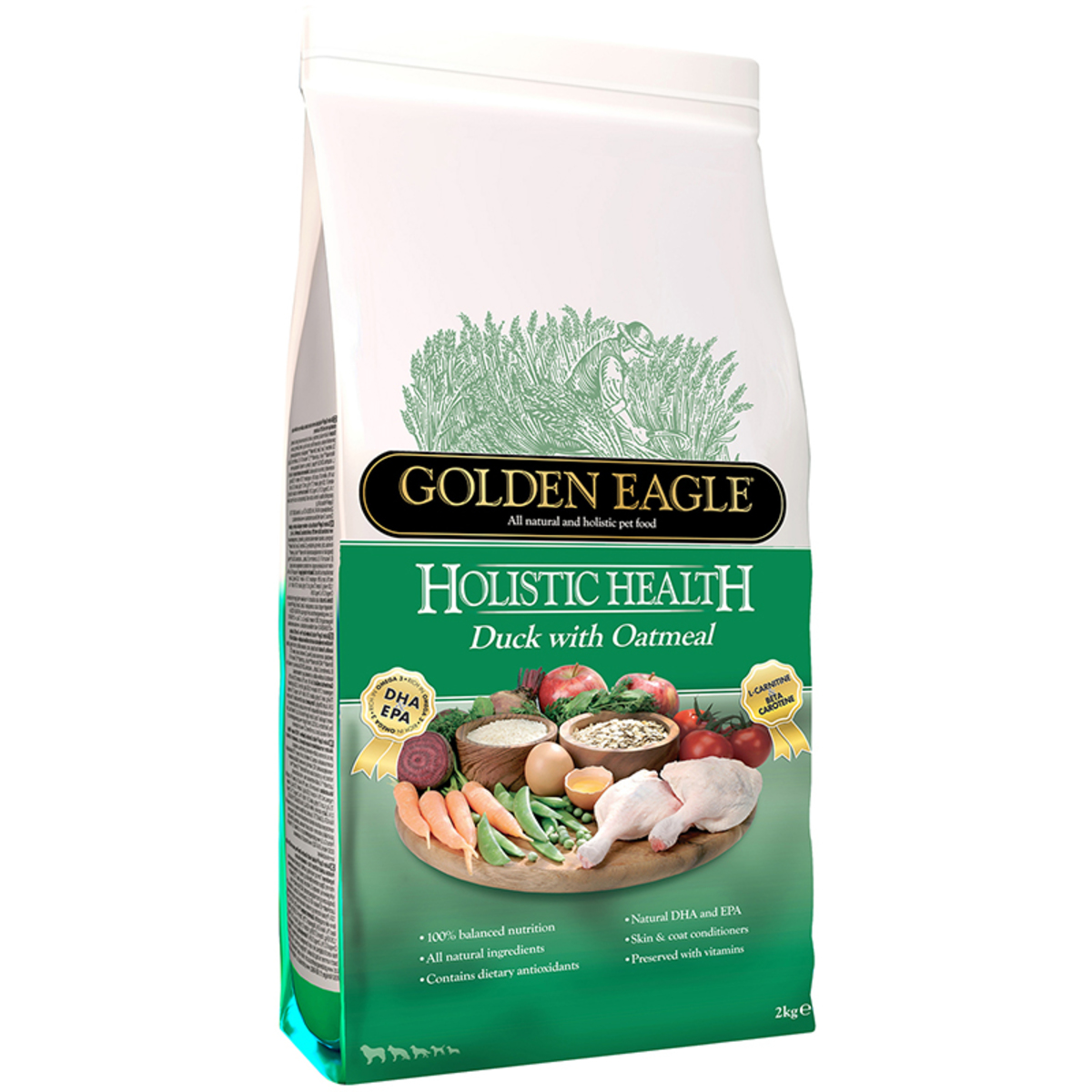 Golden Eagle- Holistic Duck with Oatmeal 12kg (GED-112)
