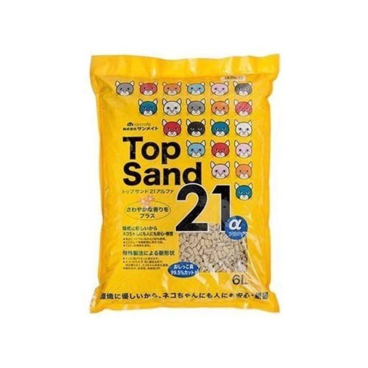 Top Sand 21α空心雙通豆腐砂6L x6包 (日本進口) (NP-3367_6)