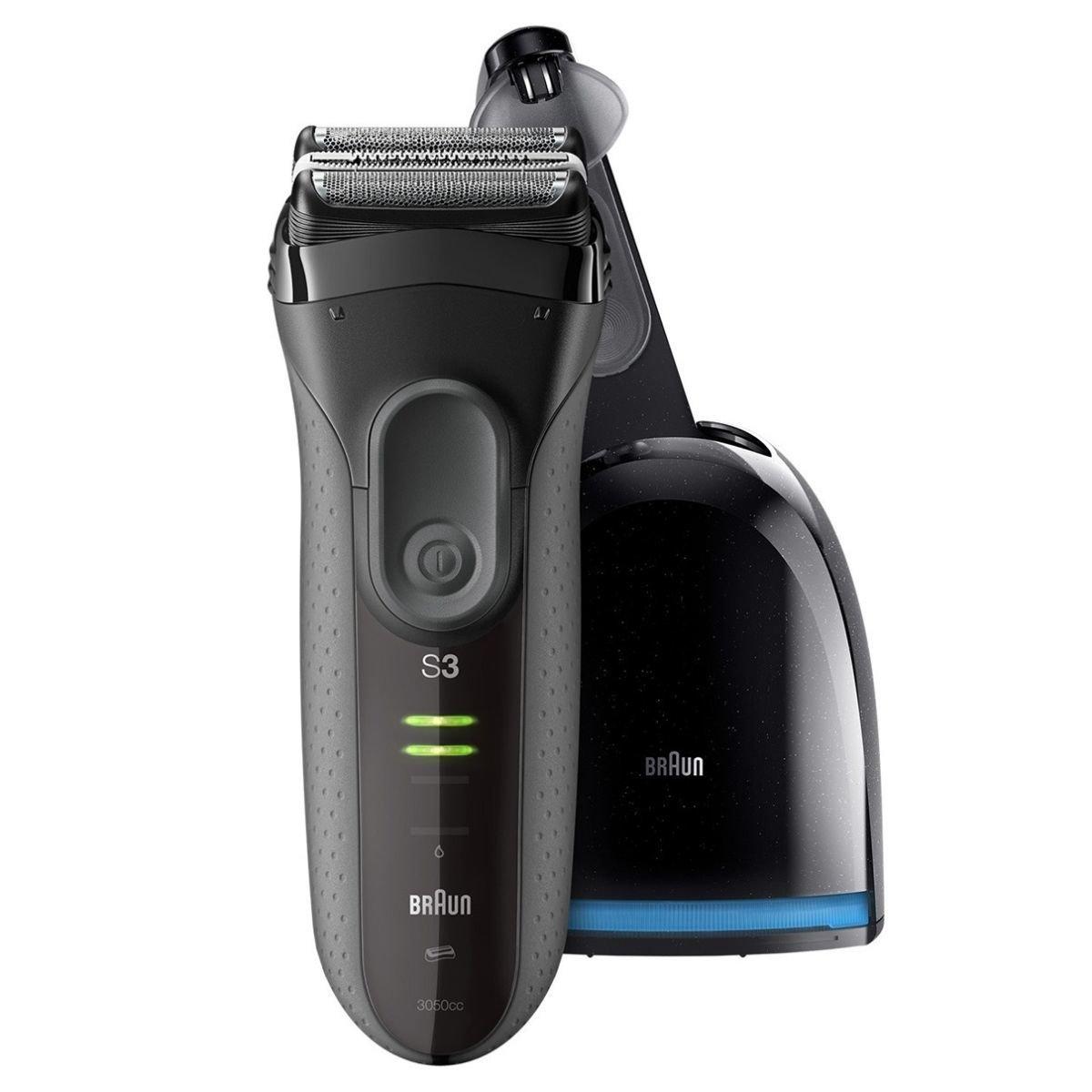 Series 3 ProSkin 親膚系列 3050cc 可充電電鬚刨(灰色)帶有清潔充電系統