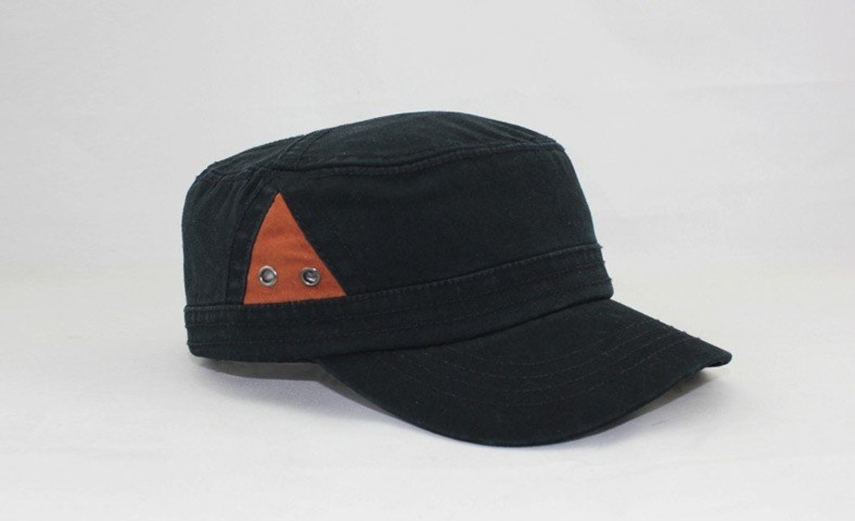 Fashionable Peaked Cap (Black with brown) and- LACKPARD