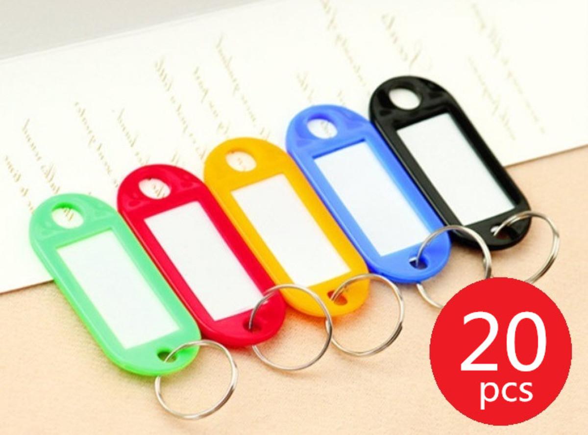 (20個)彩色鑰匙扣名牌(20個)