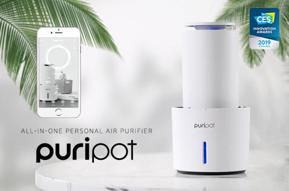 【Authorized Good】P1N - IOT Blue Light Photocatalyst Personal Air Purifier - Made in Korea