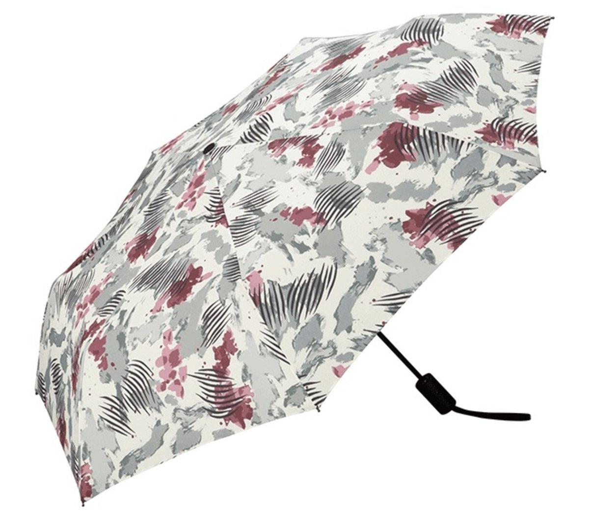 [瘋狂MORE Dollar] 日本防UV/防紫外線摺疊式自動開關摺雨傘(paint off mini)