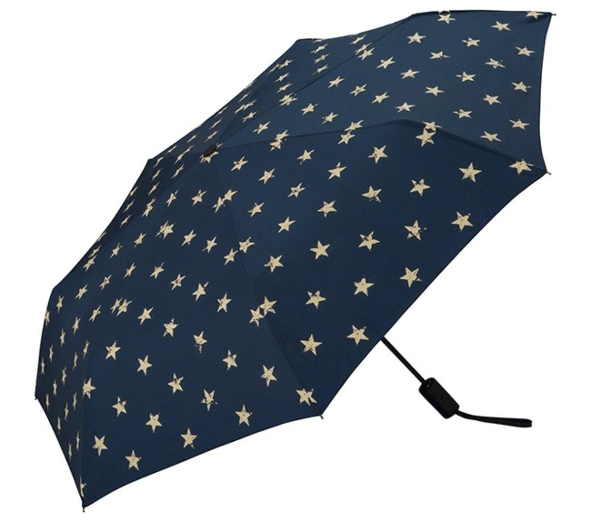 日本防UV/防紫外線摺疊式自動開關摺雨傘(vintage star mini)