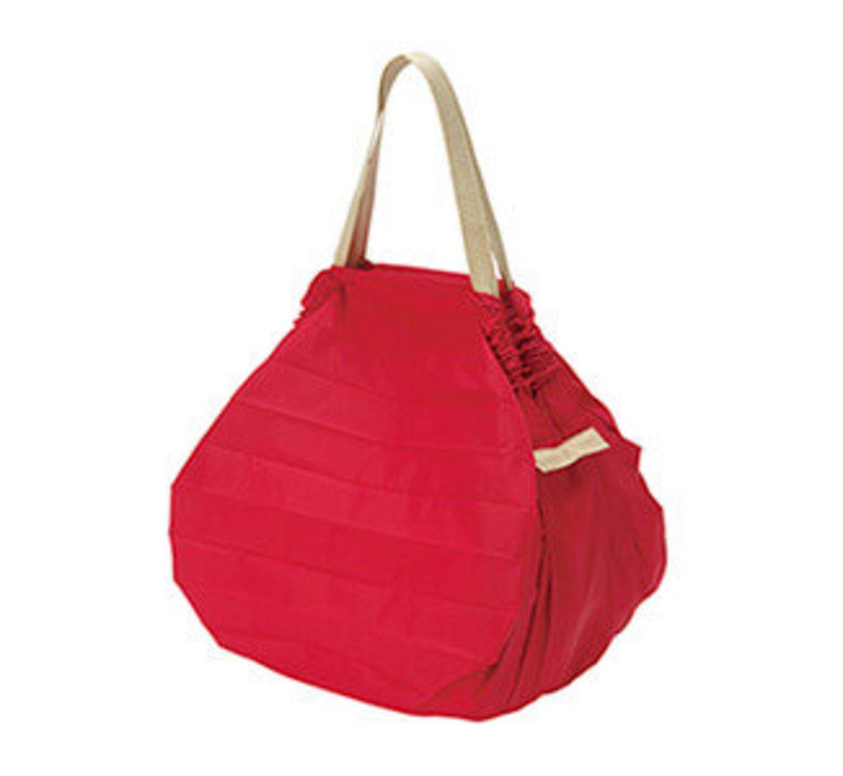 【S411A】紅色 - 日本便攜秒收手提環保袋 - 中碼