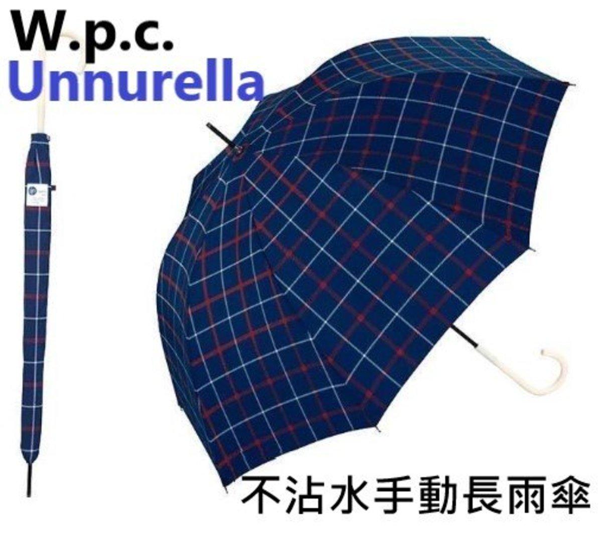 (UN1006) Unnurella Long water resistance umbrella - Trad Check