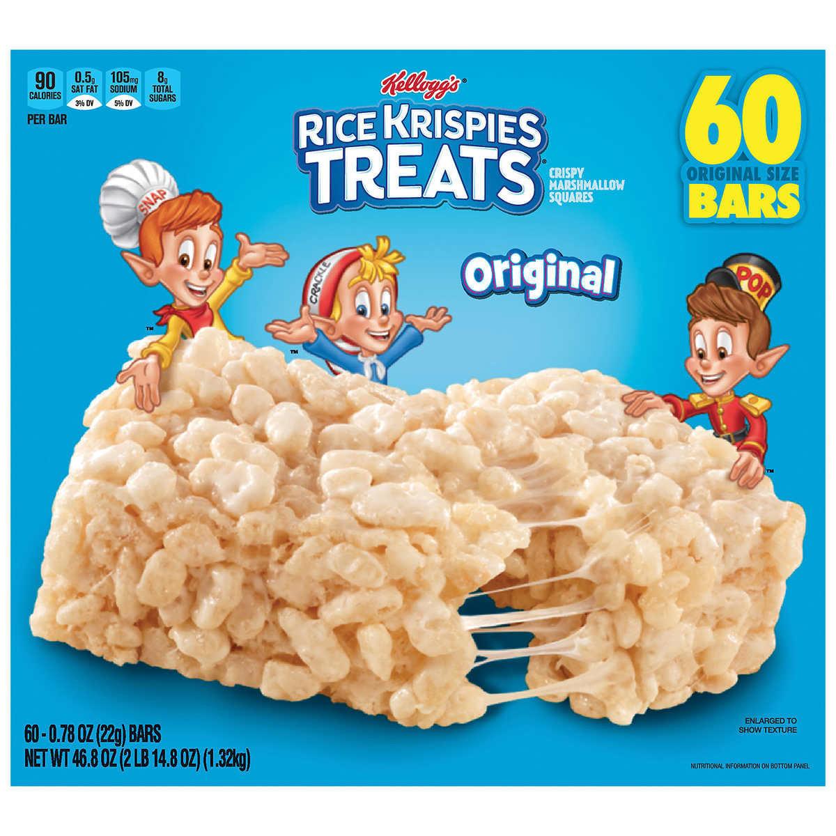 Rice Krispies Treats Crispy Marshmallow Squares 60Bars