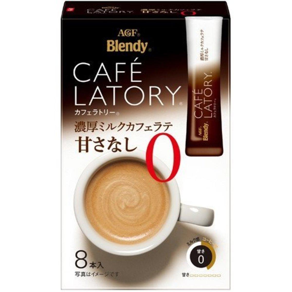 Blendy 即沖濃厚無糖牛奶咖啡 88g(8條入)