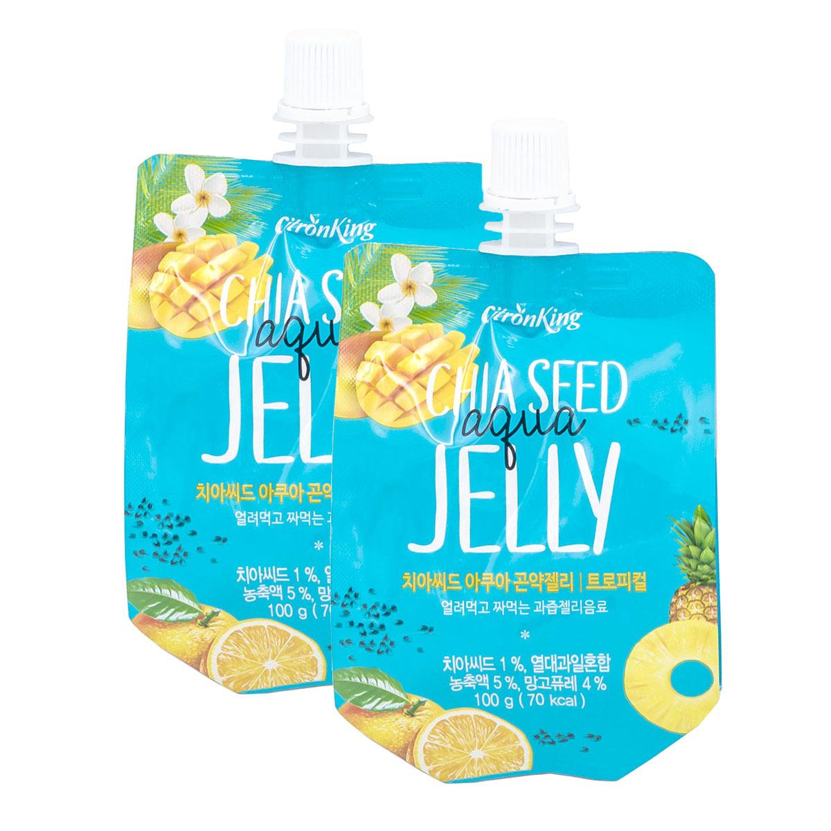 Korea Golden Citron Chia Seed Konjac Jelly 100g- Tropical x2