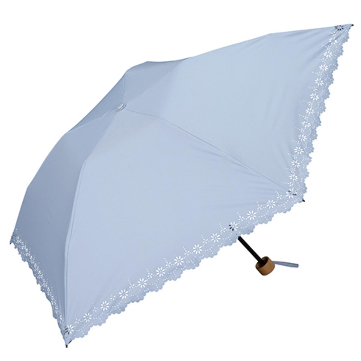 UV Protection Light Weight Folding Umbrella - Flower Blue 801-508 (SX25)