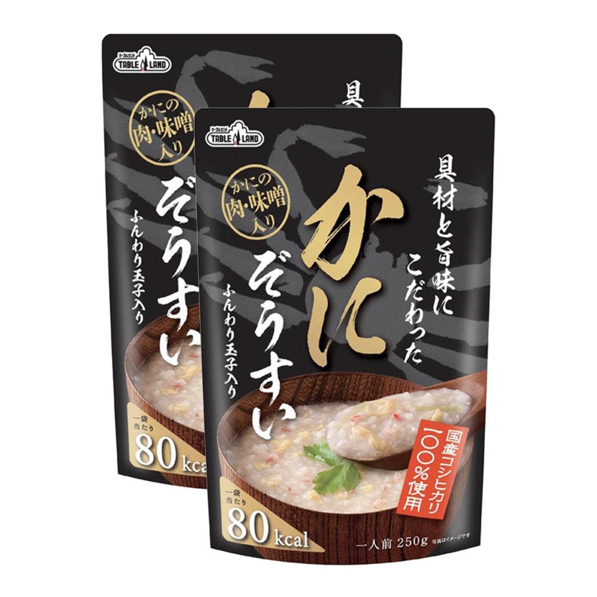 Koshihikari Rice Porridge 250g - Egg Crabmeat ×2(Red)