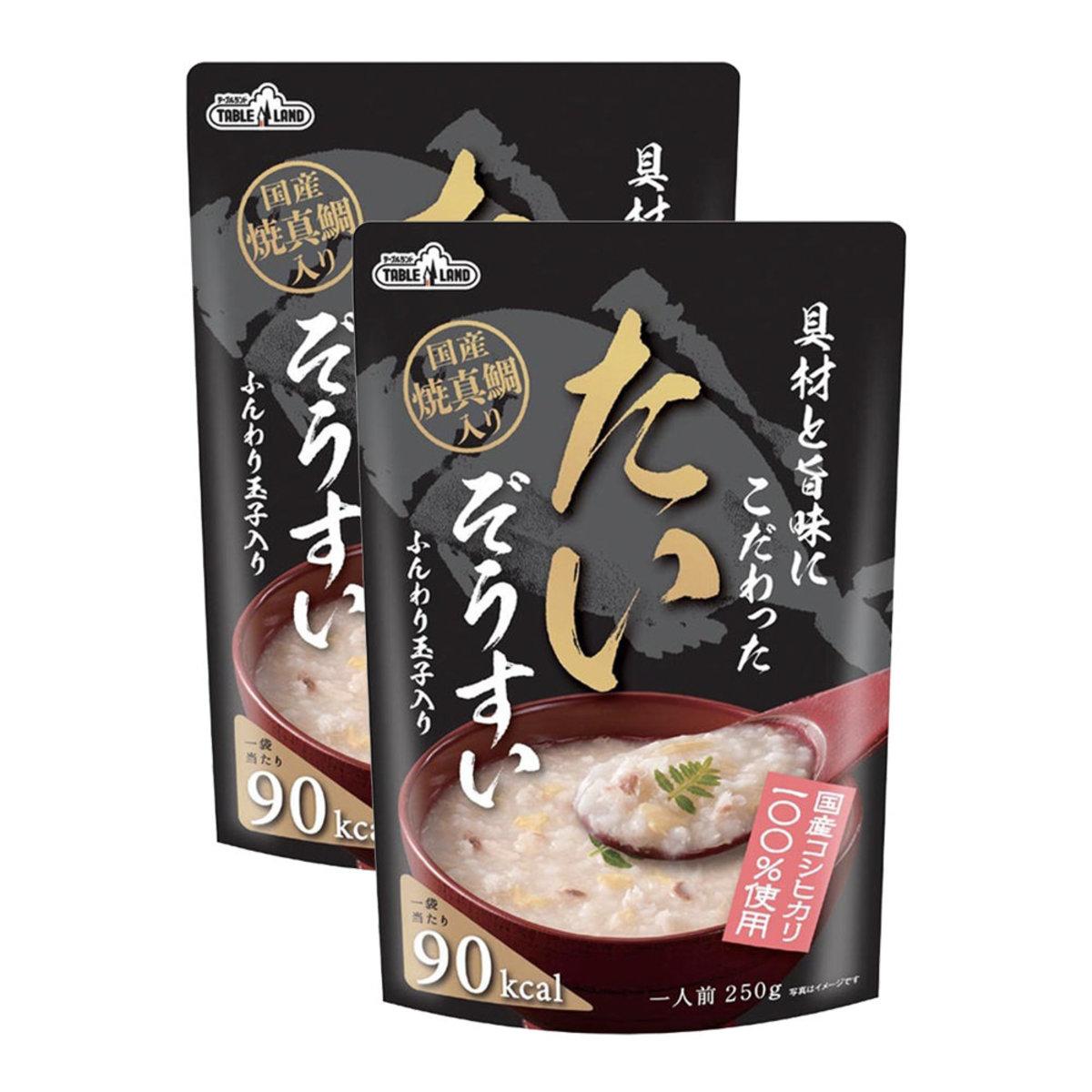 Koshihikari Rice Porridge 250g - Egg Snapper ×2(Pink)