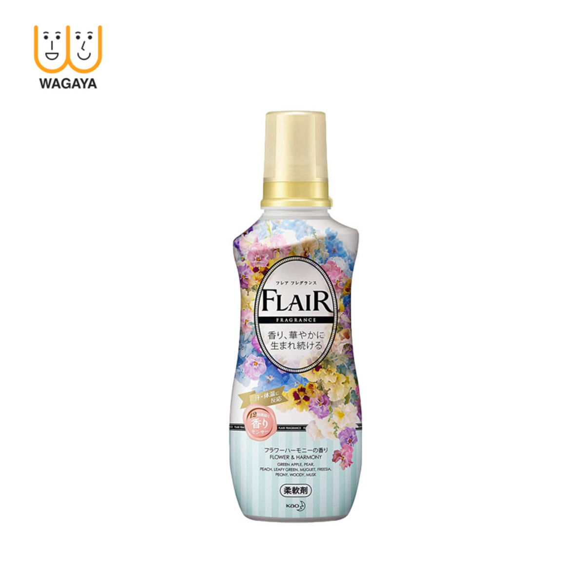 Flair Fragrance 12 Hours Fabric Softener 570ml (Green)