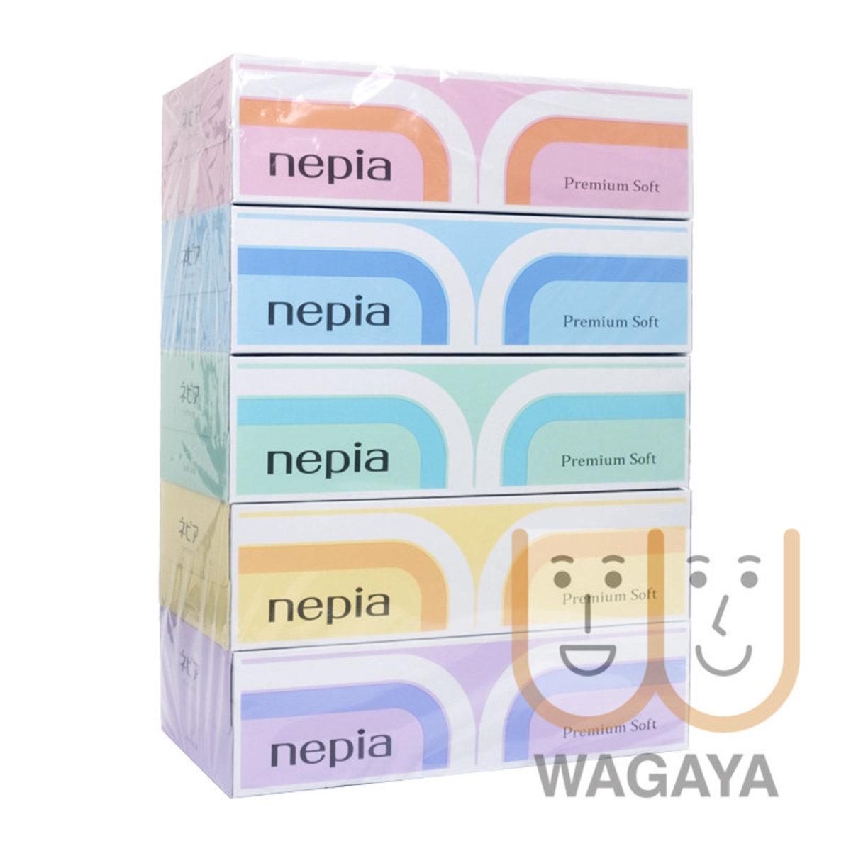 柔軟盒裝雙層面紙 180張 x5盒 (平行進口貨品)