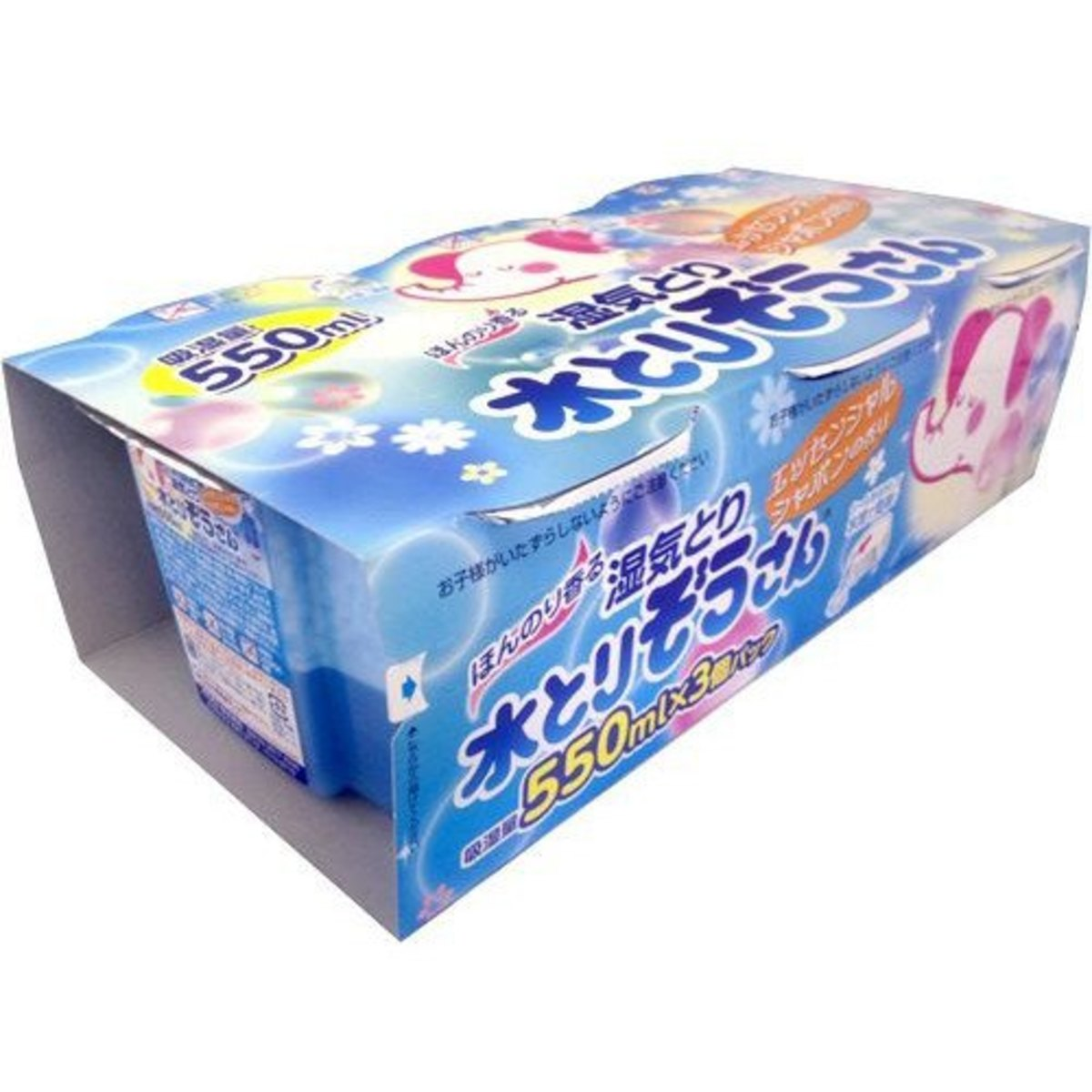 岡本吸濕大笨象香味除濕劑 (550ml x3個) 藍