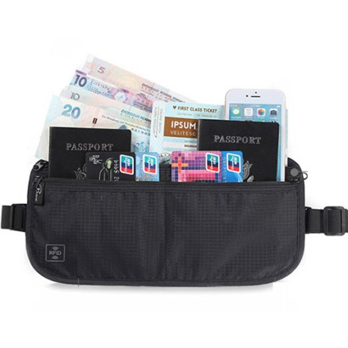 RFID Card&Passport 2-Way Bag