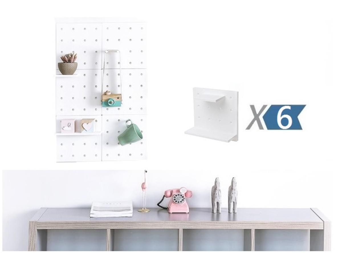 DIY Wall Shelves - White x 6