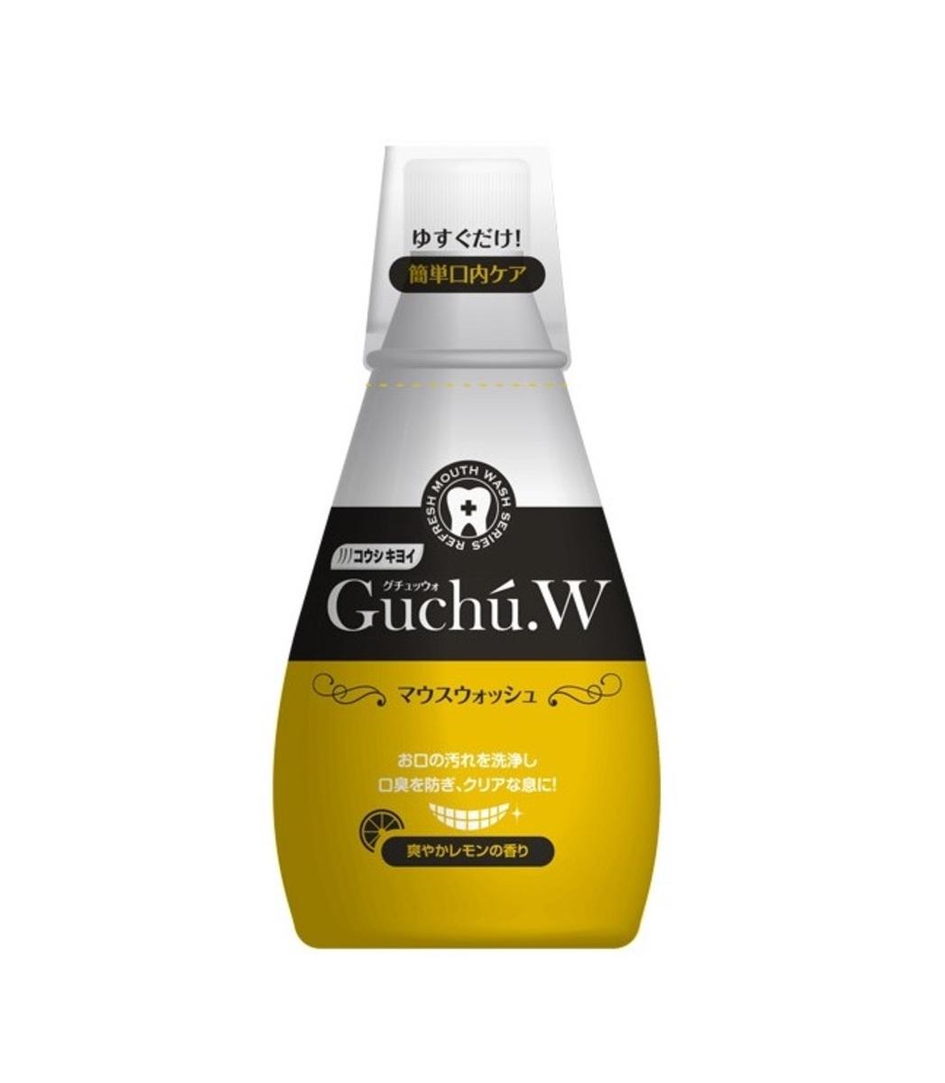 Guchu.W mouthwash 340ml (Yellow) - Ginseng root Lemon