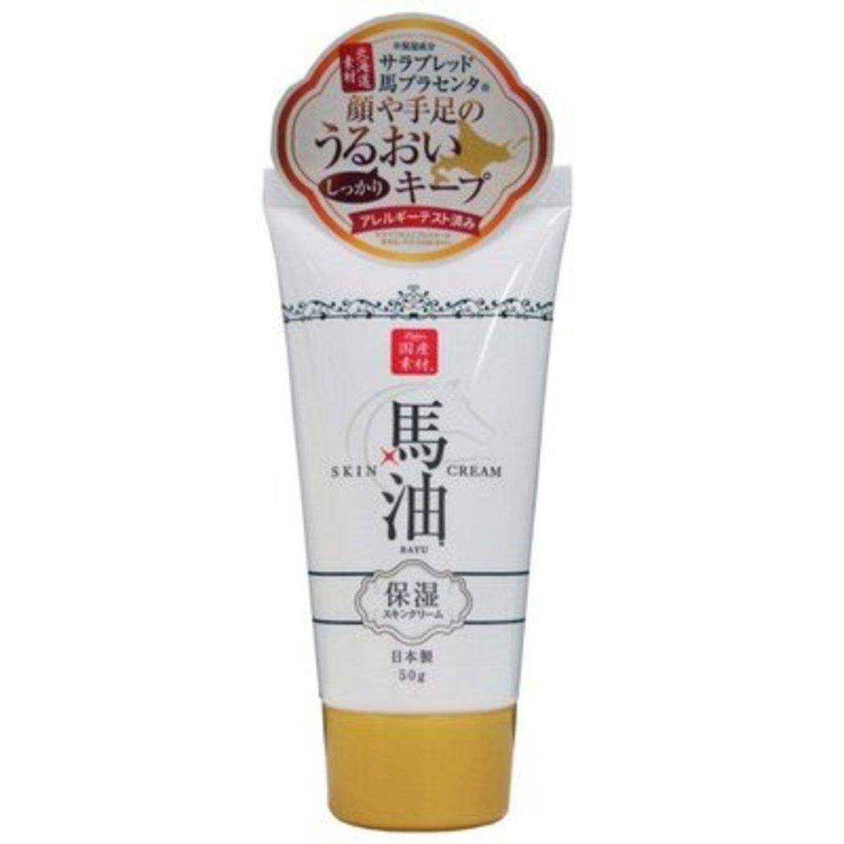 Horse Oil Skin Cream 50g (sakura flavor)