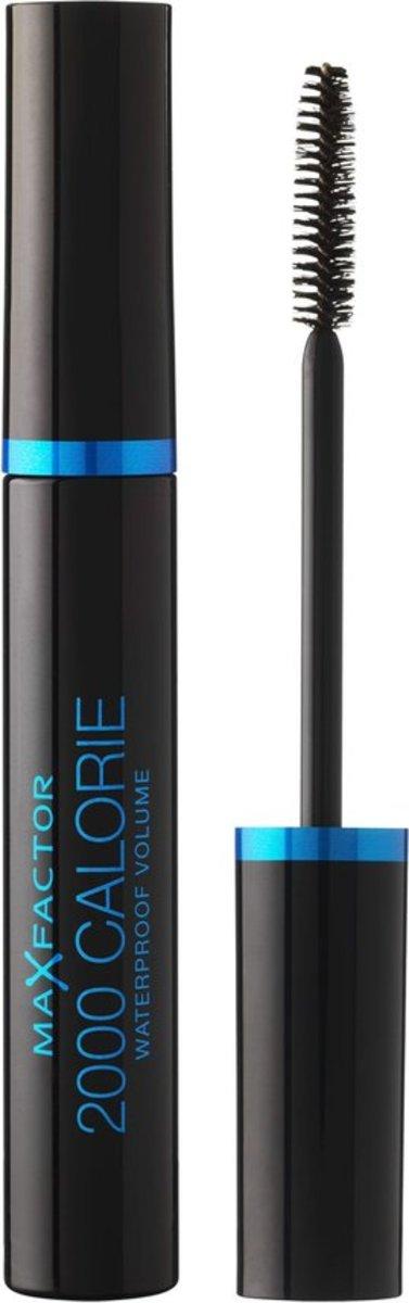 經典濃密防水自然捲睫毛膏9ml #黑色 [平行進口] (黑藍盒)