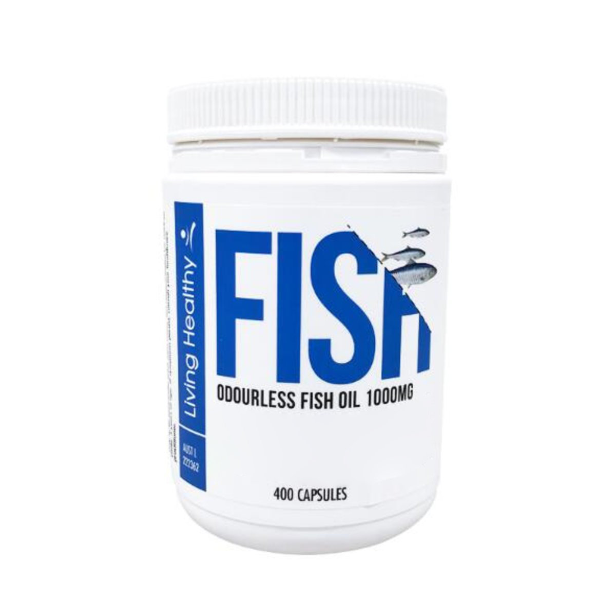 Odourless Fish Oil 1000mg (400 Capsules) (66-133 Days)