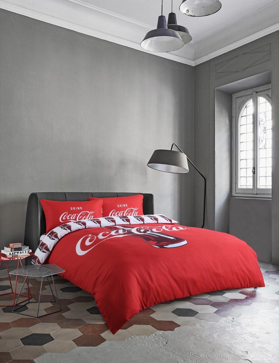 可口可樂 數碼印彩柔紡系列寢具套裝-單人(CK001GBS36)