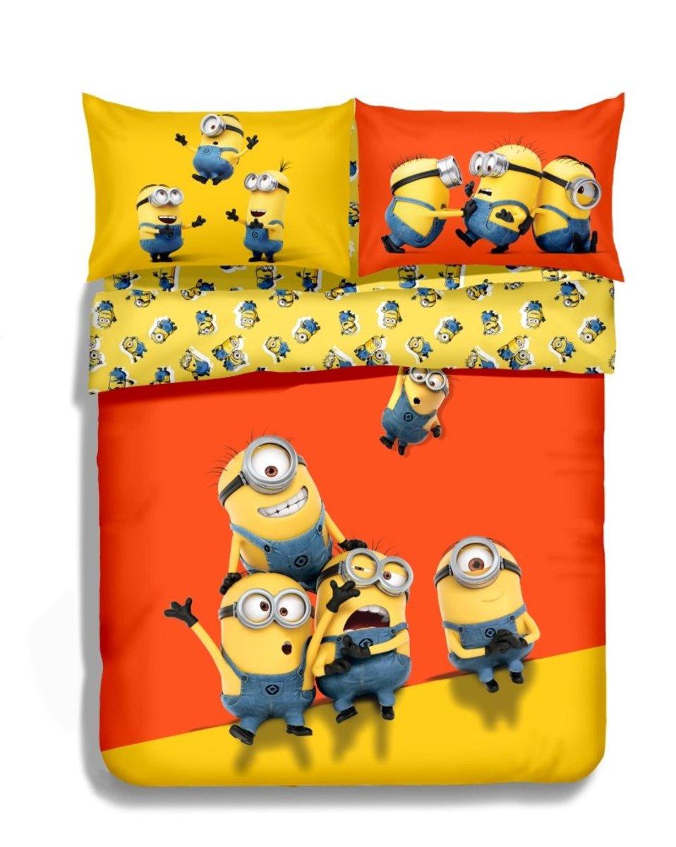 Minions Cartoon Cotton Series Fitted Sheet & Pillow Case Set - Single (DM001FDS36)