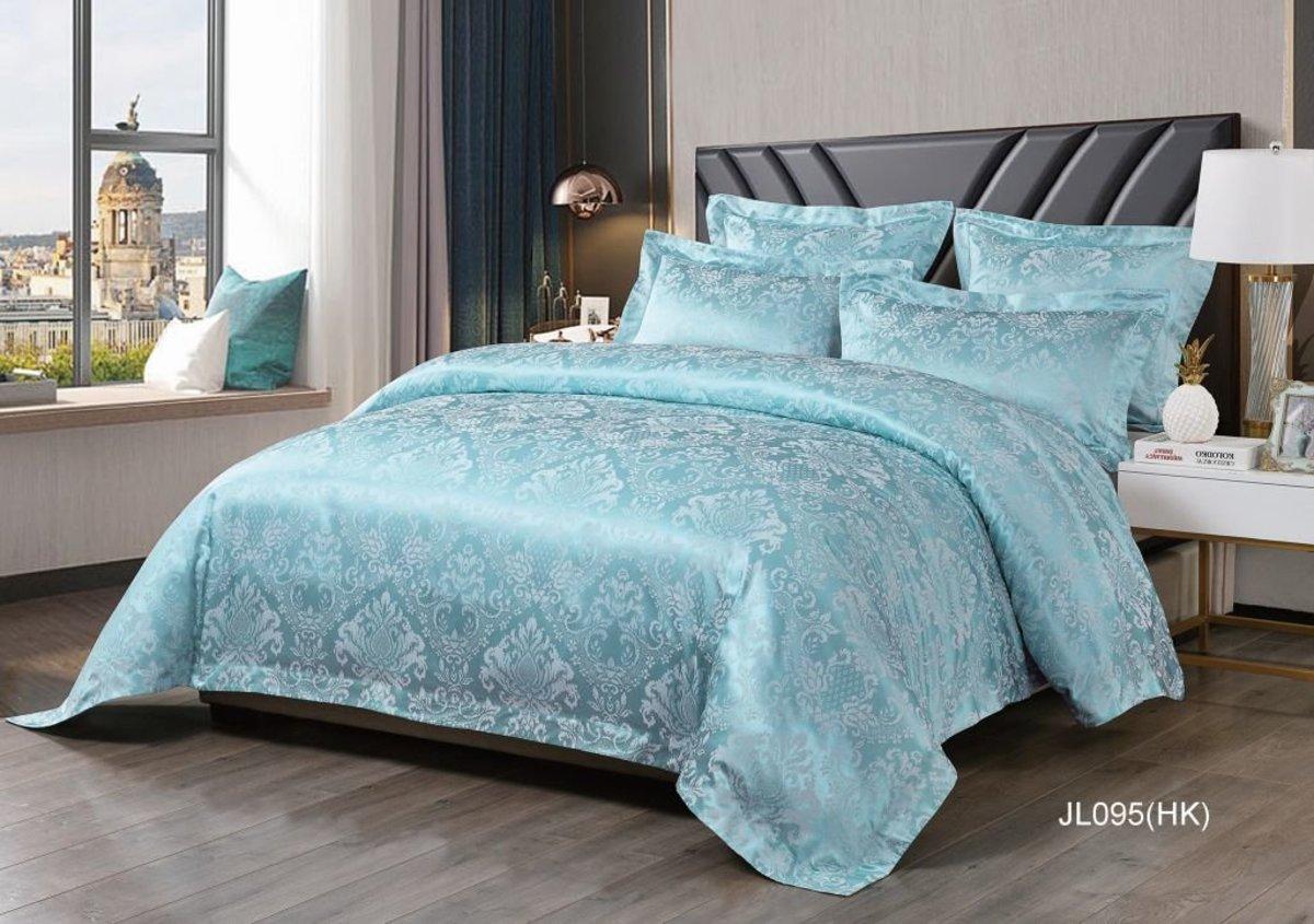 Catania 2350 Threads Silk & Cotton Yarn Dyed Jacquard Series Box Set- Double (JL095GBS48)